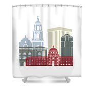 Tucson Skyline Poster Shower Curtain