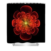 Tudor Rose - Abstract Shower Curtain