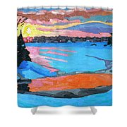 Tuesday Sunset Shower Curtain