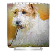 Tuffy The Russell Terrier Shower Curtain