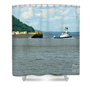 Tug And Barge Shower Curtain