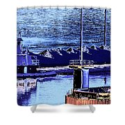 Tug Reflections Shower Curtain