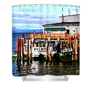 Tugboat At Rest Shower Curtain