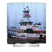 Tugboat At Twilight Shower Curtain