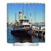 Tugboat Baltimore At The Museum Of Industry Shower Curtain
