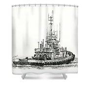 Tugboat Daniel Foss Shower Curtain