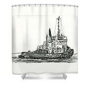 Tugboat David Foss Shower Curtain