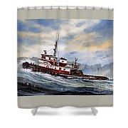Tugboat Earnest Shower Curtain