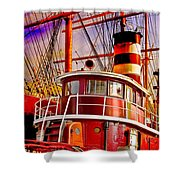 Tugboat Helen Mcallister Shower Curtain by Chris Lord