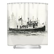 Tugboat Henrietta Foss Shower Curtain