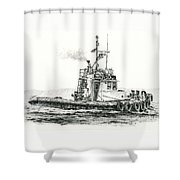 Tugboat Kelly Foss Shower Curtain