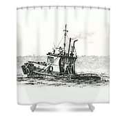 Tugboat Lela Foss Shower Curtain