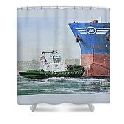 Tugboat Leo Foss Shower Curtain