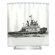 Tugboat Shelley Foss Shower Curtain