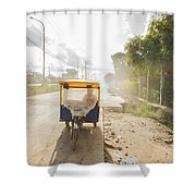 Tuk Tuk Taxi Shower Curtain