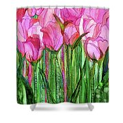 Tulip Bloomies 1 - Pink Shower Curtain