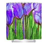 Tulip Bloomies 2 - Purple Shower Curtain