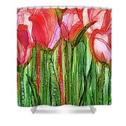 Tulip Bloomies 2 - Red Shower Curtain