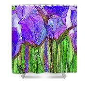 Tulip Bloomies 3 - Purple Shower Curtain