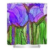 Tulip Bloomies 4 - Purple Shower Curtain
