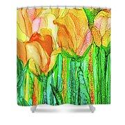 Tulip Bloomies 4 - Yellow Shower Curtain