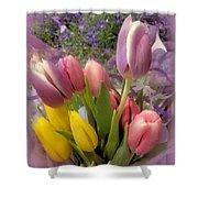 Tulip Bouquet Shower Curtain