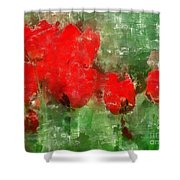 Tulip Decay Deconstructed Shower Curtain