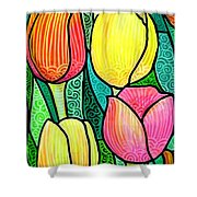Tulip Expo Shower Curtain by Jim Harris