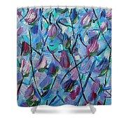 Tulip Harmony- Abstract Art Shower Curtain