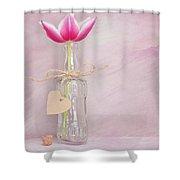 Tulip In Bottle Shower Curtain
