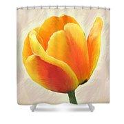 Tulip Orange Shower Curtain