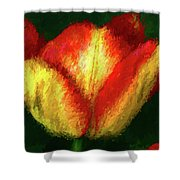 Tulip Painting Shower Curtain