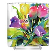Tulip Pot Shower Curtain