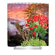 Tulip Town 19 Shower Curtain