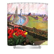 Tulip Town 21 Shower Curtain