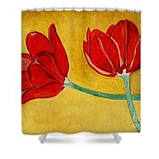 Tulips And Love Happy Together Shower Curtain