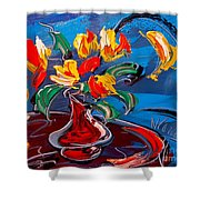 Tulips And Moon Shower Curtain