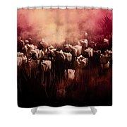 Tulips Burnt Sienna Shower Curtain by Richard Ricci