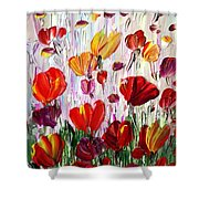Tulips Flowers Garden Seria Shower Curtain