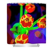 Tulips In Abstract Shower Curtain