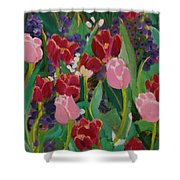 Tulips In The Capitol Shower Curtain