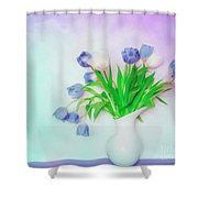 Tulips In Winter Shower Curtain