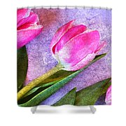 Tulips Meets Texture Shower Curtain