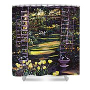 Tulips Of Gold Shower Curtain