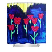 Tulips Of My Heart Shower Curtain