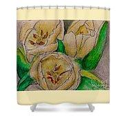 Tulips Trio Shower Curtain