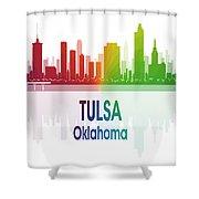 Tulsa Ok 1 Vertical Shower Curtain