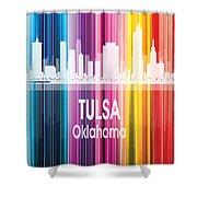Tulsa Ok 2 Vertical Shower Curtain