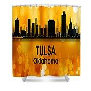 Tulsa Ok 3 Vertical Shower Curtain