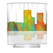 Tulsa Oklahoma Skyline-1 Shower Curtain